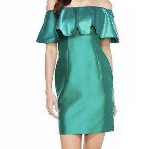 Adrianna Papell Satin Off-Shoulder cocktail dress
